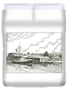 Genius Ready To Fish Gig Harbor Duvet Cover by Jack Pumphrey