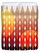 Geometric Fun Duvet Cover by Mark Ashkenazi