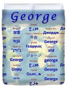 George Duvet Cover by J McCombie
