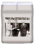 George Sisler Babe Ruth Ty Cobb Duvet Cover by Unknown