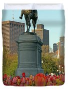 George Washington at the Boston Public Garden Duvet Cover by Juergen Roth