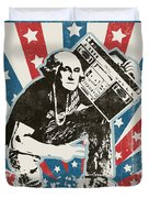 George Washington - Boombox Duvet Cover by Pixel Chimp