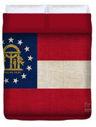 Georgia State Flag Duvet Cover by Pixel Chimp