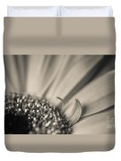 Gerbera Blossom - Bw Duvet Cover by Hannes Cmarits
