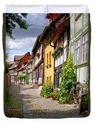 German Old Village Quedlinburg Duvet Cover by Heiko Koehrer-Wagner