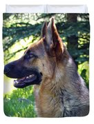 German Shepherd Dog Female Duvet Cover by Karon Melillo DeVega