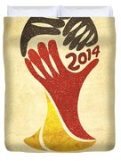 Germany World Cup Champion Duvet Cover by Aged Pixel