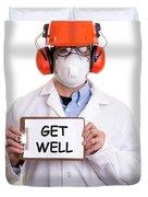 Get Well Duvet Cover by Edward Fielding