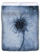 Geum Urbanum Cyanotype Duvet Cover by John Edwards