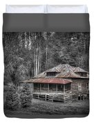 Ghost In The Window Duvet Cover by Debra and Dave Vanderlaan