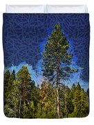 Giant Abstract Tree Duvet Cover by Barbara Snyder