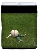 Giant Baseball Duvet Cover by Diane Diederich