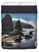 Giants Of Trinidad Duvet Cover by Adam Jewell