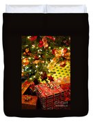Gifts Under Christmas Tree Duvet Cover by Elena Elisseeva