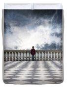 Girl On A Terrace Duvet Cover by Joana Kruse