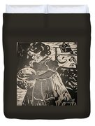 Girl's Play Duvet Cover by PainterArtist FINs husband Maestro