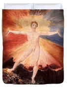 Glad Day Or The Dance Of Albion Duvet Cover by William Blake