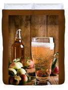 Glass Of Cyder Duvet Cover by Amanda And Christopher Elwell