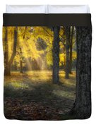 Glowing Maples Square Duvet Cover by Bill Wakeley