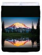 Glowing Peak Duvet Cover by Inge Johnsson