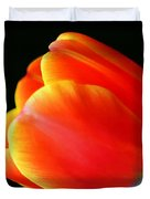 Glowing Tulip Duvet Cover by Darren Fisher