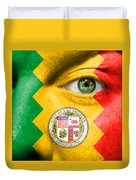Go Los Angeles Duvet Cover by Semmick Photo