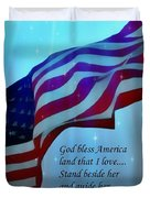 God Bless America Duvet Cover by Barbara Chichester