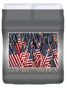 God Bless America Duvet Cover by Carolyn Marshall