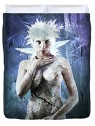 Goddess Of Water Duvet Cover by Michael  Volpicelli