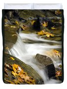 Going With The Flow Duvet Cover by Christina Rollo