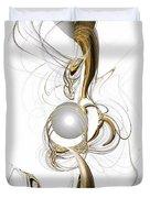 Gold And Pearl Duvet Cover by Anastasiya Malakhova