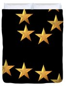Gold Stars Abstract Triptych part 3 Duvet Cover by Rose Santuci-Sofranko