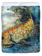 Golden Arowana Duvet Cover by Zaira Dzhaubaeva