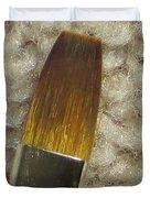 Golden Brush Duvet Cover by Sonali Gangane