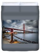 Golden Gate Bridge Duvet Cover by Eduard Moldoveanu