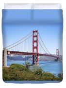 Golden Gate Bridge Duvet Cover by Kelley King