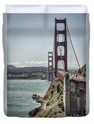 Golden Gate Duvet Cover by Heather Applegate