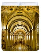 Golden Government Duvet Cover by Greg Fortier