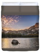 Golden Gunsight Peak Duvet Cover by Robert Bales