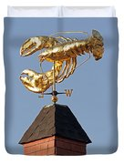 Golden Lobster Weathervane Duvet Cover by Juergen Roth