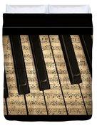 Golden Pianoforte Classic Duvet Cover by John Stephens