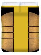 Golden Sun Diptych Duvet Cover by Cheryl Young