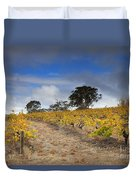 Golden Vines Duvet Cover by Mike  Dawson