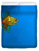 Goldfish Study 4 - Stone Rock'd Art By Sharon Cummings Duvet Cover by Sharon Cummings