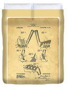 Golf Putter Patent Duvet Cover by Edward Fielding