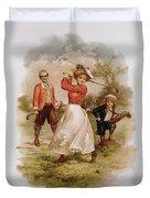 Golfing Duvet Cover by Ellen Hattie Clapsaddle