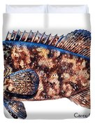 Goliath Grouper Duvet Cover by Carey Chen