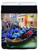 Gondolas Duvet Cover by Jeff Kolker