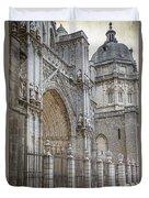 Gothic Splendor Of Spain Duvet Cover by Joan Carroll