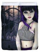 Gothic Temptation Duvet Cover by Jutta Maria Pusl